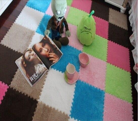30CM x 30CM 1 stücke wohnzimmer schlafzimmer kinder weiche patchwork matte magie cube slip-beständig teppich fashion klettern baby