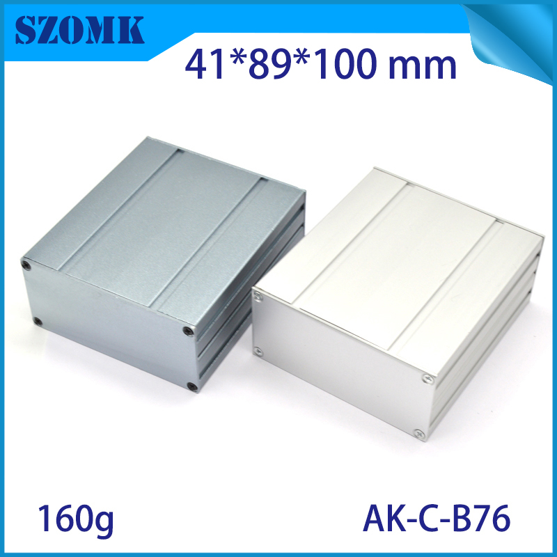 one piece SZOMK customized extrusion aluminum material connecting box rover housing shell 100*89*41mm Aluminum Junction Box d200mm white glass round ball shade fabric wire pendant lamp fixture brass drop modern home lighting bedroom cafe decoration