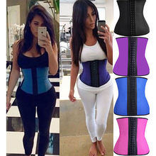 Miss Moly Women Body Shaper Corsets Latex Rubber Waist Trainer Cincher Underbust Corset Shapewear for font