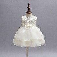 rose flower baby girl dress beige satin belt baby dresses girl clothing for birthday christening vestido infantil 3 24M