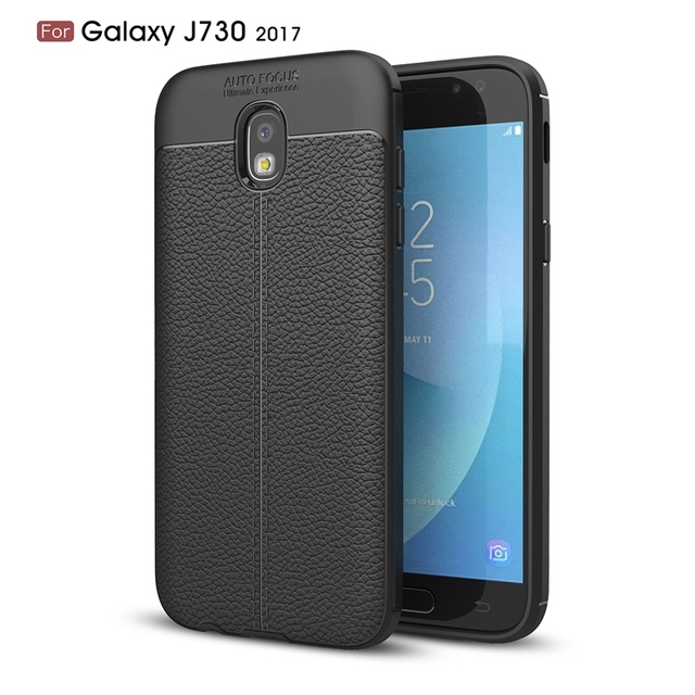 new product 83d4c db135 US $3.09 38% OFF|For Samsung Galaxy J7 2017 / J7Pro 2017 / J730 Case Phone  Back Protective Smartphone Soft Litchi striae Shockproof Case Cover-in ...