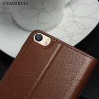 Luxury Window 100 Retro Real Genuine Leather Phone Fundas Coque Case For Xiaomi Mi 5 M5