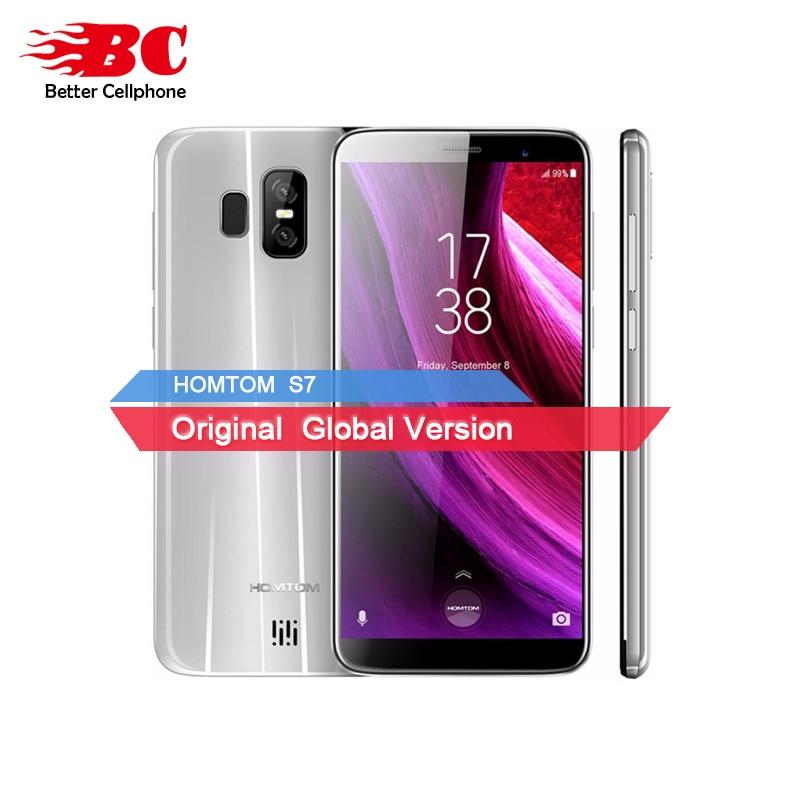 D'origine HOMTOM S7 Android7.0 Arrière 13MP + 2MP 5.5 HD IPS D'empreintes Digitales Daul SIM Carte 3 GB + 32 GB MTK6737 Quad Core 1.3 GHZ téléphone Intelligent