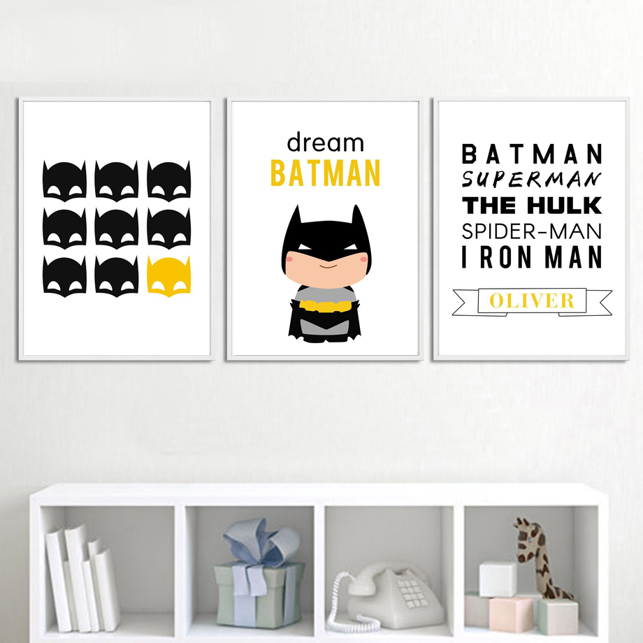 Kids, Poster, Painting, Superhero, And, Posters