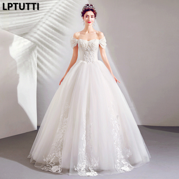LPTUTTI Embroider Beading New Sexy Vintage Princess Bridal Marriage Gown Bride Simple Party Events Long Luxury Wedding Dresses