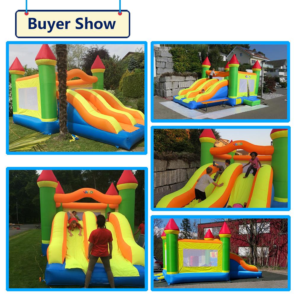 HTB1SnY4SXXXXXafaFXXq6xXFXXXk - YARD Giant Dual Slide Inflatable Jump Castle Bouncy House with Blower