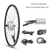 Electric Bicycle Front Wheel Hub Motor Kit, E Bike Conversion Kit, Brushless Gear Motor, DC 36V 48V 350W Spoke Motor,Bike System