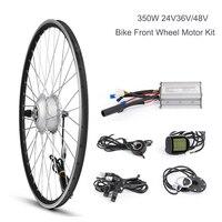 Electric Bicycle Front Wheel Hub Motor Kit, E Bike Conversion Kit, Brushless Gear Motor, DC 36V 48V 350W Spoke Motor,Bike System