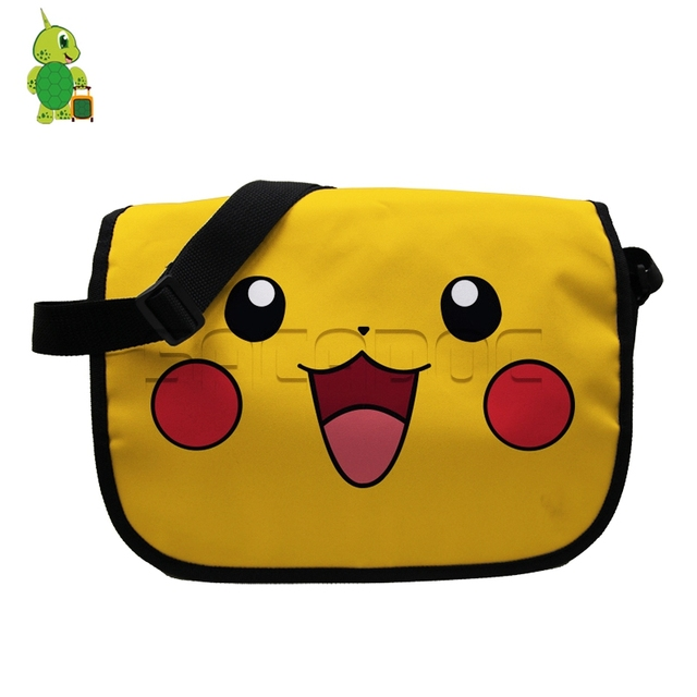 Funny Chibi Pikachu Printing Messenger Bags School Shoulder Handbag for  Students Kids Bookbags Pokemon Crossbody Travel Bag