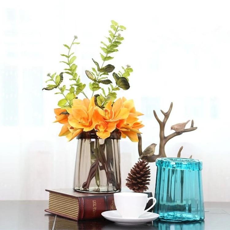 Modern Transparent Hydroponic Glass Vase Living Room Table