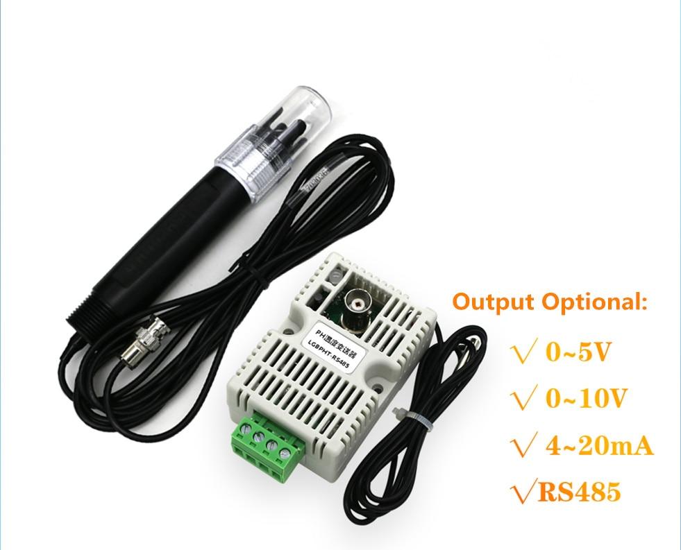 Значение рН Температура передатчик обнаружения Сенсор модуль, RS485/4-20mA/0-10 v/0-5 В Выход + электрода PH Температура передатчик
