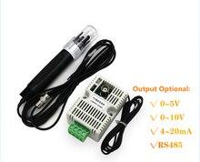 PH ערך טמפרטורת משדר זיהוי חיישן מודול RS485/4 20mA/0 10 V/0 5 V פלט + אלקטרודה PH טמפרטורת משדר