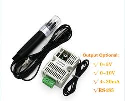Wartość PH przekaźnik temperatury moduł czujnika wykrywania RS485/4 20mA/0 10 V/0 5 V wyjście + przekaźnik temperatury elektrody PH sensor module temperature transmitterdetection sensor -