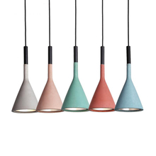 Macaron new classical horn shape resin lampshade pendant lamps living room dining macarons colorful lovely LED hanging lamp