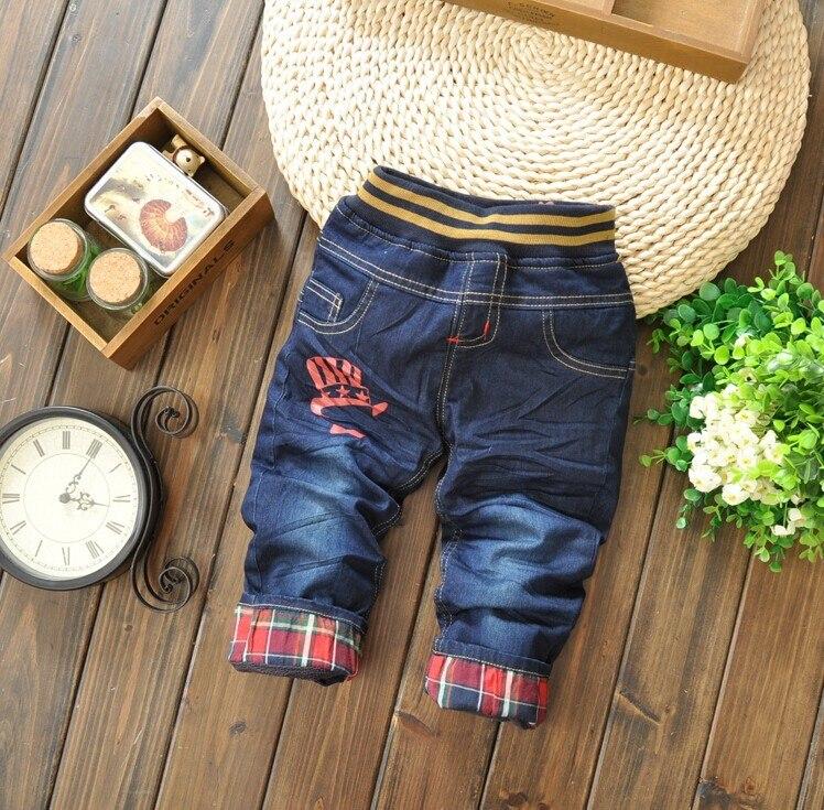 Jungen Kleidung Geschickt Jeans Für Kinder 2017 Neue Mode Herbst Und Winter Dicke Doppelschicht Cartoon Tragen Jeans Kinderhosen Freies Verschiffen Mutter & Kinder