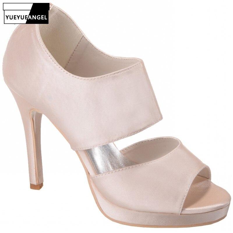 b0b4ee7e82d Soirée Souliers Nouveau Mariage Femmes Plate 3 Bout Satin À Grande  Chaussures Élégant 2019 2 Hauts 5 forme D été Pour Les 4 De Sandales Taille  Ouvert ...