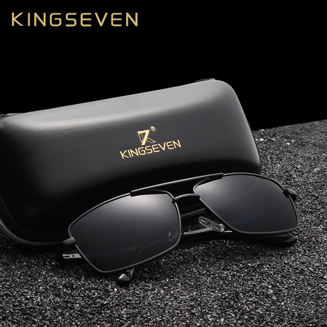 KINGSEVEN Brand Classic Square Plastic Polarized Men Sunglasses Men's Sun Glasses Driving Fishing Aluminum Eyewear N7906