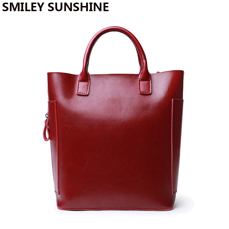SMILEY SUNSHINE brand women genuine leather handbag small hand bag vintage crossbody bags female shoulder bag