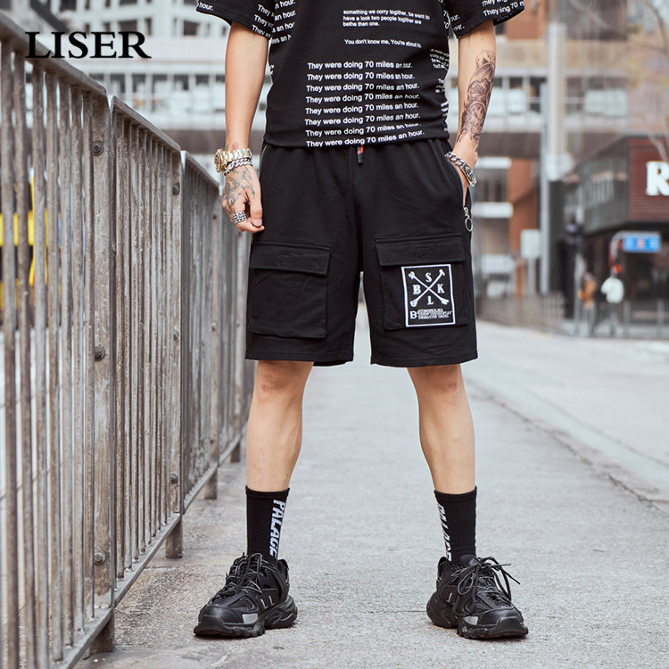 Liser Shorts Men 2019 Summer Joggers Hip Hop Shorts Streetwear Sweatpants Cotton Casual Short Pants