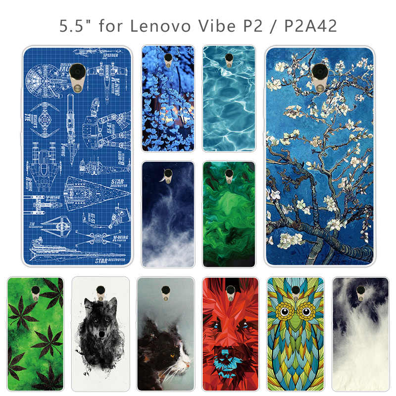 Ốp lưng Cho Lenovo VIBE P2 P 2 Capa Fundas Cho Lenovo P2C72 Bao Mềm TPU Dẻo Silicone Xanh Coque Cho Lenovo p2 5.5 ''Ốp Điện Thoại