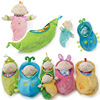 Candice Guo Newest Arrival Super Cute Sweet Pea Baby Placate Toy Plush Toy Sleeping Doll Birthday