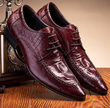 Fashion new Black / brown tan oxfords shoes formal mens dress shoes genuine leather business shoes man wedding shoes