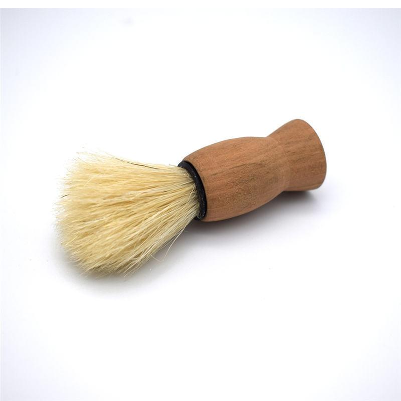 Wooden Handle Badger Hair  Facial Beard Cleaning Appliance Shaving Brush For Men Mustache Professional Barber Tool 1Pcs
