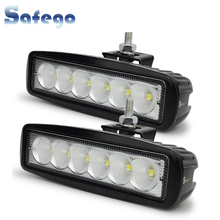 2pcs white/black housing spot offroad 18W LED off road work lamp 18w worklight 12V/24V light bar bulbs