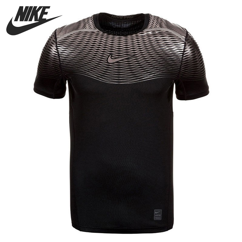 все цены на Original New Arrival  NIKE HYPERCOOL MAX FTTD SS  Men's Tight T-shirts short sleeve Sportswear онлайн