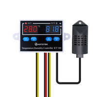 KT100 цифровой контроль температуры и влажности Лер с прямым выходом термостат гигростат 10A термостат контроль температуры переключатель
