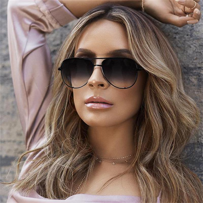 Gradient Black Sunglasses Pink Shades for Women
