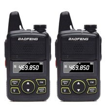 2pcs Baofeng BF T1 Super Mini Walkie Talkie UHF 400 470mhz Portable Two Way Radio Ham CB BF T1 Handheld Transceiver Transmitter