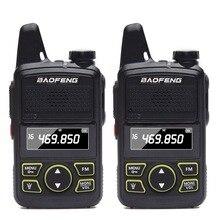2pcs Baofeng BF T1 סופר מיני ווקי טוקי UHF 400 470mhz נייד שתי בדרך רדיו חם CB BF t1 כף יד משדר משדר