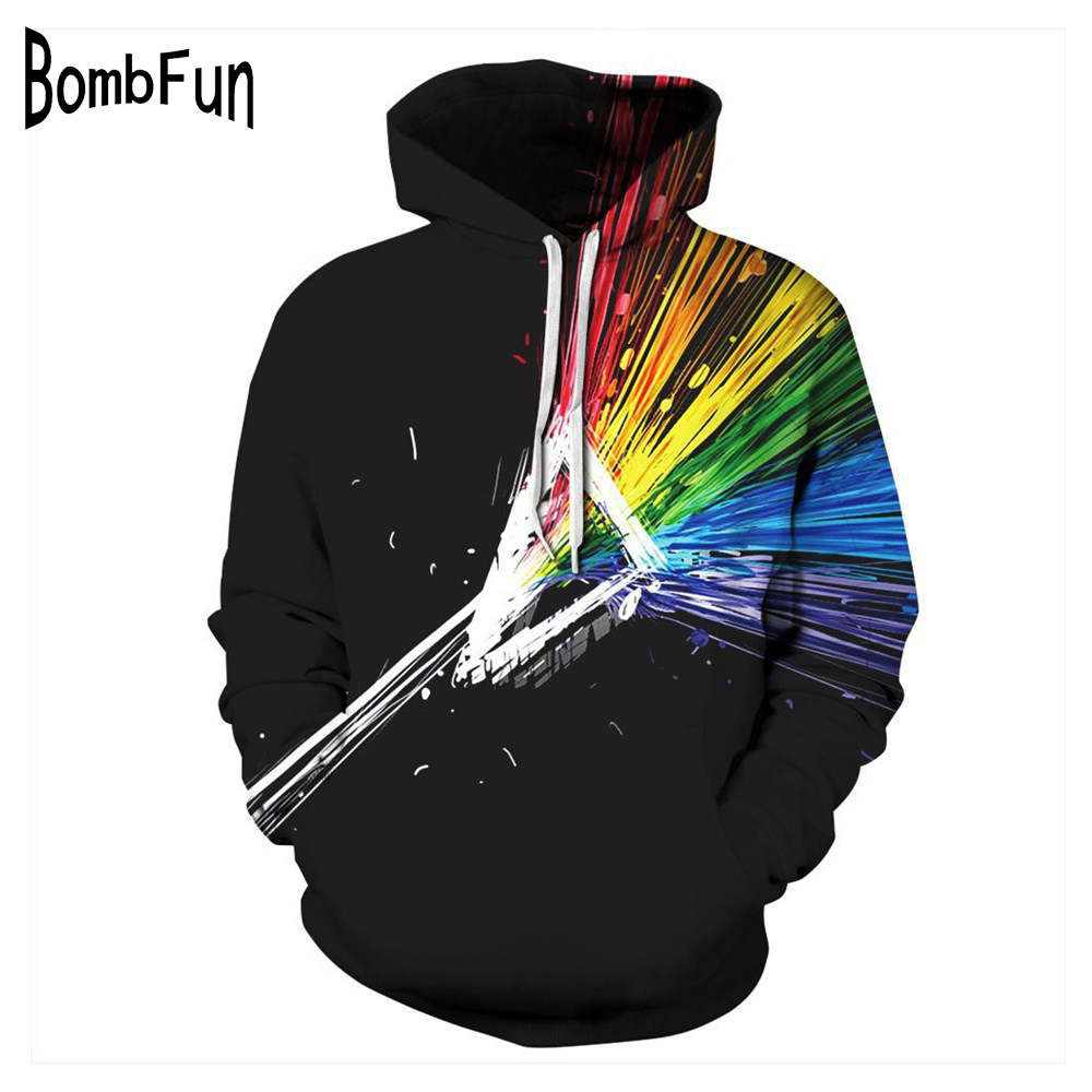 New 3d Print Hoodie & Sweatshirt Women/Men Colorful Stripe Hooded Pullovers Couples Autumn Winter Hoody Hip Hop Streetwear Tops