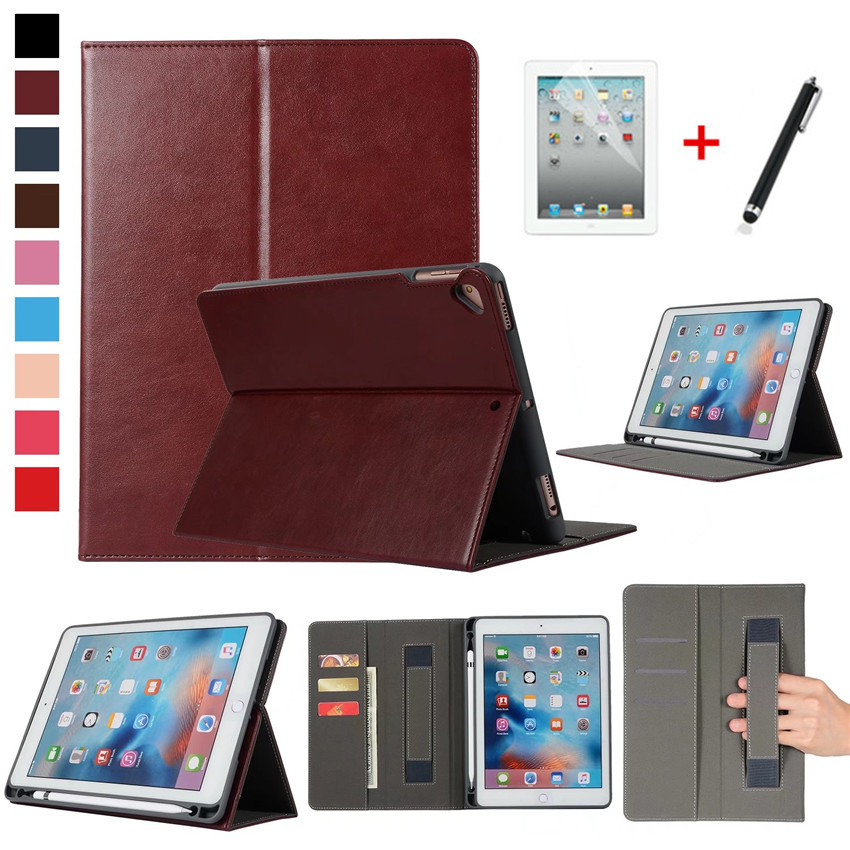 For Apple iPad 9.7 2018 2017 Case With Pencil Holder A1822 A1893 Tablet Cover For iPad Air 1 2 For iPad Pro 9.7 Funda Cases+pen