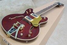 Hohe Qualität Custom Shop Weinrot Gretsch Falcon 5422 T Semi Hollow Body Jazz E-gitarre mit Bigsby Tremolo 6120