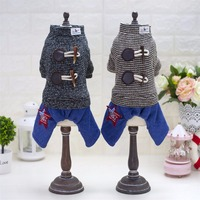Y94 Manufacture Sale Winter Pet Dog 4 Legs Jumpsuit Clothes Small Dogs Horn Buttons Fashion Puppy