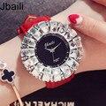 Fashion Women's Watch Shining BlingBling Crystal Quartz Watches Women Leather Band  Casual Ladies Wristwatches Relogio Feminino