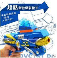 2015 speelgoed pistool pistool unisex gratis verzending kan brand een kogel infrarood kristal bom burst guns kinderspeelgoed zachte pistool met doos #11