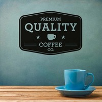 Hollow Out Enlish Words Premium Quality Coffee Wall Sticker Character Adhesive Waterproof Home Decor Wall Decal For Coffee Shop