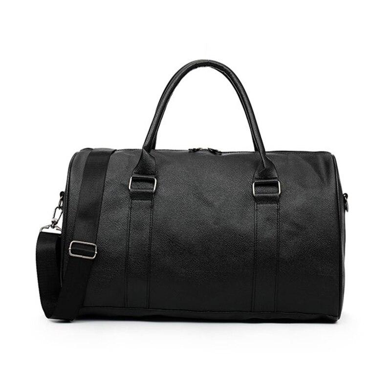Conception populaire PU cuir affaires femmes voyage sacs sac à main mode grand week-end sac polochon sac de voyage pour les femmes 2018
