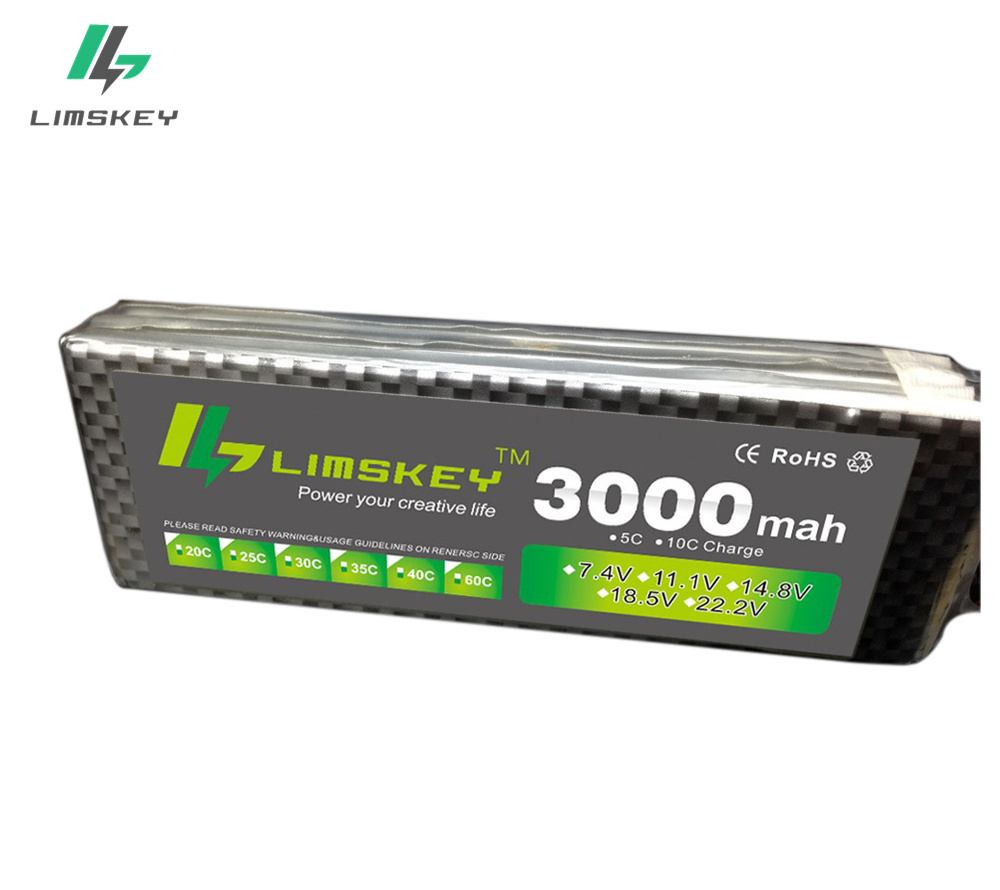 Limskey power 3S 11.1v 3000mah Lipo Battery 30c For Helicopter Four axis RC Car Boat power T XT60 JST Plug 3s lipo battery 11.1 image