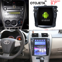 Otojeta vertical screen tesla head units quad core 32gb rom Android 7.1 Car Multimedia GPS Radio player for Toyota Corolla 07 12