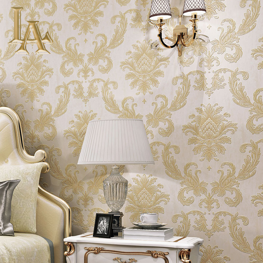 Dcohom Simple Luxury European Style 3D Wallpaper For Bedroom Living Room Walls Decor Bei ...
