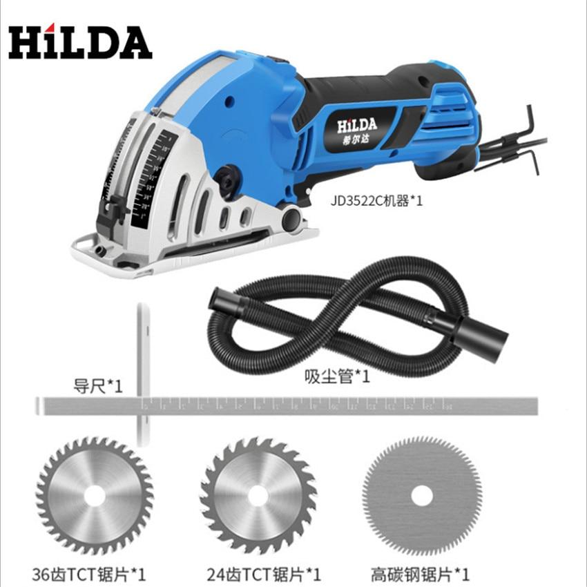 Mini scie circulaire électrique 500 W bricolage scie électrique multifonctionnelle outils électriques outil rotatif lames de scie circulaire pour TP-0291 du bois