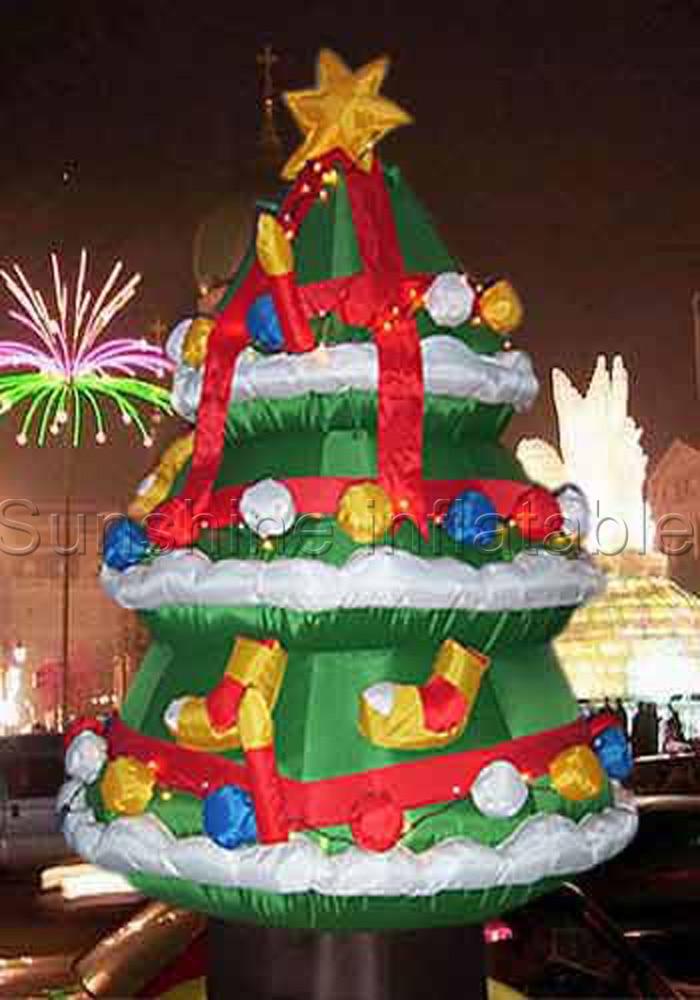 Рождественские украшения на заказ надувная елка Рождественские украшения для шоппинга торговый центр, отель семьи