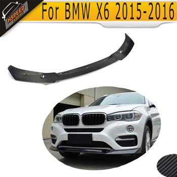 Carbon Fiber Front Bumper Spoiler Lip for BMW X6 Extravagance sDrive35i xDrive35i Base SUV 4 Door 2015 2016 image