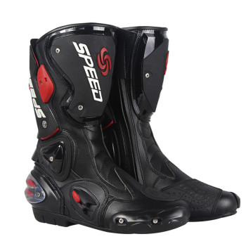 PRO-BIKER SPEED MID-calf Protective Gear Motorcycle Boots Moto Shoes Motorcycle Riding Racing Motocross Boots BLACK RED WHITE