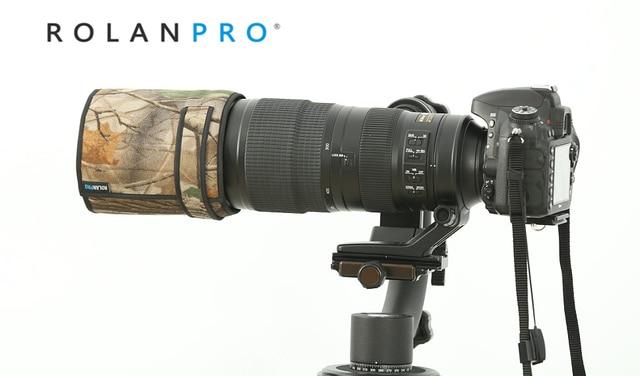 ROLANPRO pare soleil téléobjectif rabattable sur mesure pour Nikon AF S 200 500mm f/5.6E ED VR uniquement pour Nikon 200 500 f5.6