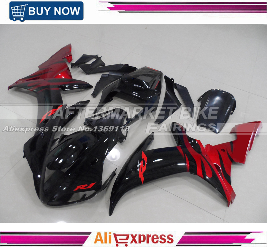RED-FLAME Advanced ABS plastic Injection Moulding Cover For <font><b>Yamaha</b></font> <font><b>R1</b></font> 2002 <font><b>2003</b></font> Motorbike <font><b>Fairings</b></font> image